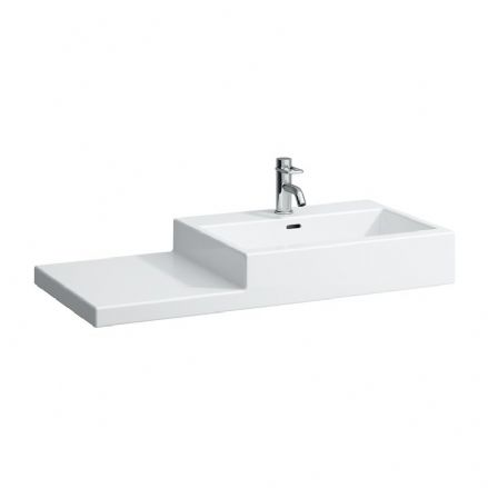818431 - Laufen Living City 1000mm x 460mm Washbasin (Left Shelf) - 8.1843.1